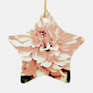 ダリア-新婚旅行-赤面のモモを青ざめさせて下さい 陶器製星型オーナメント