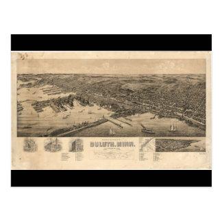 ダルースミネソタ(1893年)の見通しの地図 ポストカード