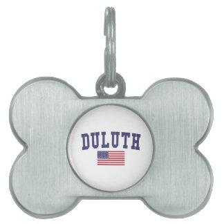 ダルース米国の旗 ペットネームタグ