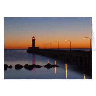 ダルース、ミネソタの北桟橋の灯台、 カード