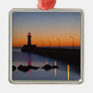 ダルース、ミネソタの北桟橋の灯台、 メタルオーナメント
