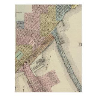 ダルース、St. Louis郡、ミネソタの地図 ポストカード