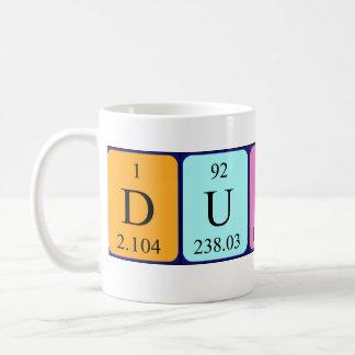 ダンカンの周期表の名前のマグ コーヒーマグカップ