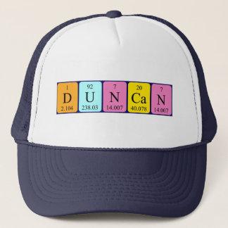 ダンカンの周期表の名前の帽子 キャップ