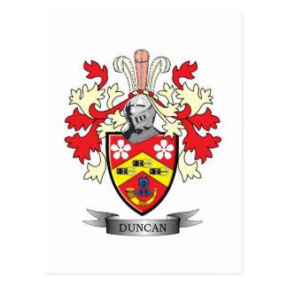 ダンカンの家紋の紋章付き外衣 ポストカード