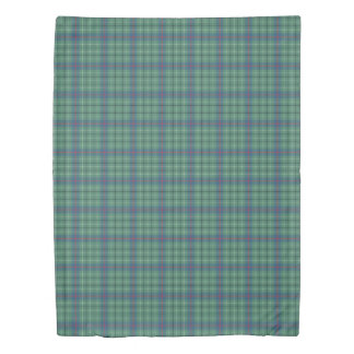 ダンカンの薄緑の一族の古代タータンチェック 掛け布団カバー