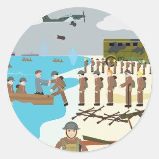 ダンケルクWWII (シンプルな歴史) ラウンドシール