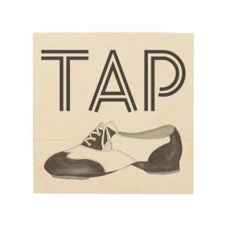 ダンサーがギフトをタップダンスする靴のプリントのダンスの先生を叩いて下さい ウッドウォールアート