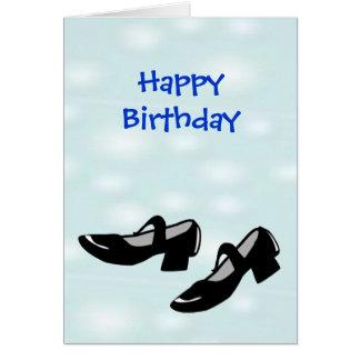 ダンサーのためのハッピーバースデーのメリーJanesダンスの靴 カード