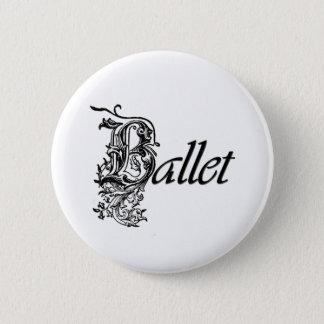 ダンサーのための装飾的なバレエのギフト 5.7CM 丸型バッジ