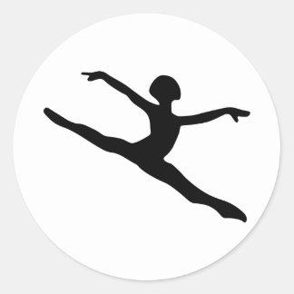 ダンサーのシルエット ラウンドシール