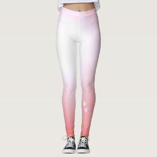 ダンサーのピンクのレギンスのファッションのトレーニングのスポーツ レギンス