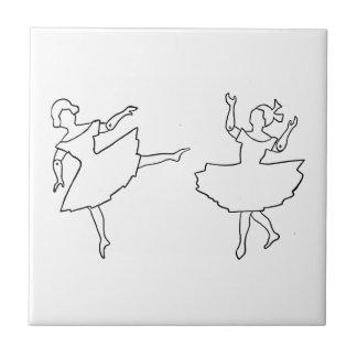ダンサーの切り出しのイラストレーション タイル