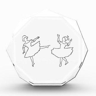 ダンサーの切り出しのイラストレーション 表彰盾
