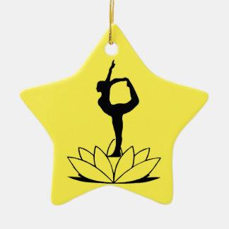 ダンサーの姿勢-ヨガはクリスマスを飾ります セラミックオーナメント