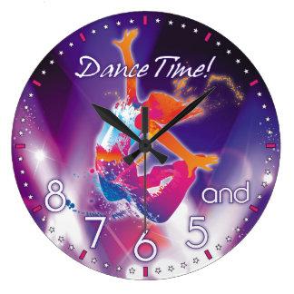 ダンサーの時間柱時計 ラージ壁時計
