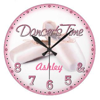 ダンサーの時間Personalizableの柱時計 ラージ壁時計