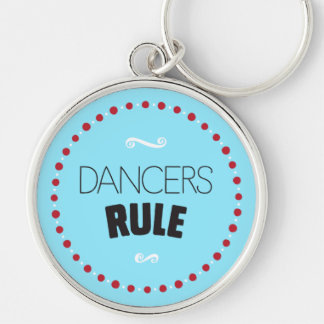 ダンサーの規則-青 キーホルダー