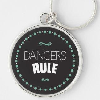 ダンサーの規則-黒 キーホルダー