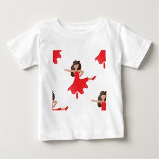ダンサーのemoji ベビーTシャツ
