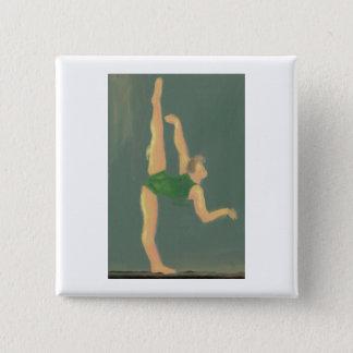 ダンサー、ボタン 5.1CM 正方形バッジ