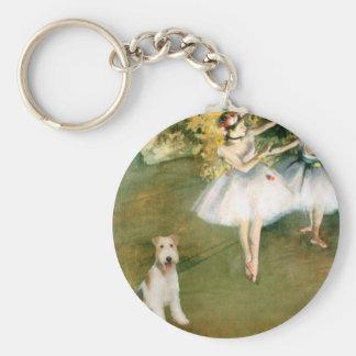 ダンサー-ワイヤーフォックステリア犬#1 キーホルダー
