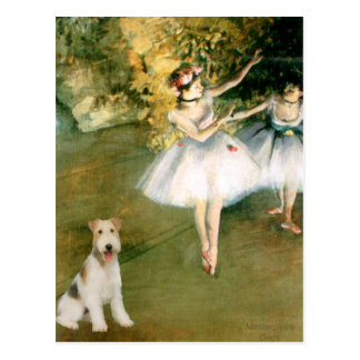ダンサー-ワイヤーフォックステリア犬#1 ポストカード