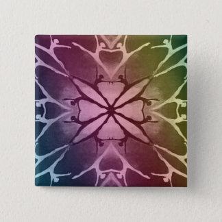 ダンサー(虹) 5.1CM 正方形バッジ