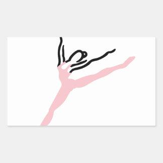 ダンサー 長方形シール