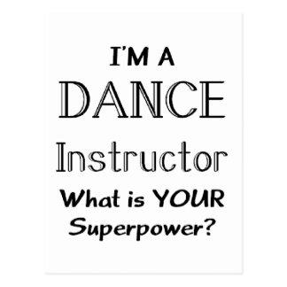 ダンスのインストラクター ポストカード