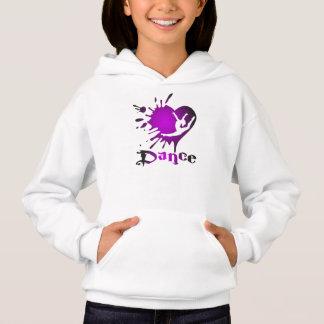 ダンスのハートのSplatの女の子のワイシャツのフード付きスウェットシャツをカスタマイズ