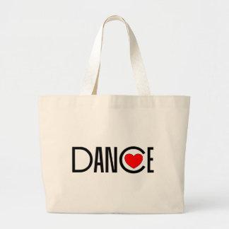 ダンスのハート ラージトートバッグ