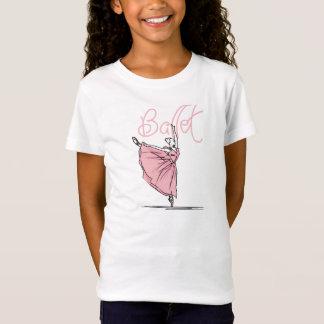 ダンスのバレエの女の子の合われたベビードールのTシャツ Tシャツ