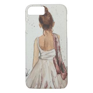 ダンスのバレエの水彩画のiPhone 7の例の後 iPhone 7ケース