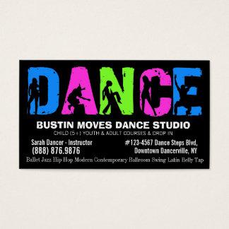 ダンスのレッスンまたはダンスのスタジオ 名刺