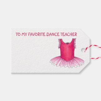 ダンスの先生のバレエのチュチュのクリスマスのギフトのラベル ギフトタグパック