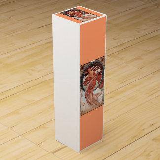 ダンスの女性のアールヌーボーのミュシャ ワインギフトボックス