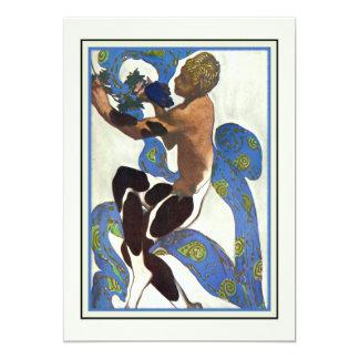 ダンスの性能のバレエの演奏会の近代美術 カード