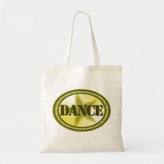 ダンスの楕円形-緑 トートバッグ