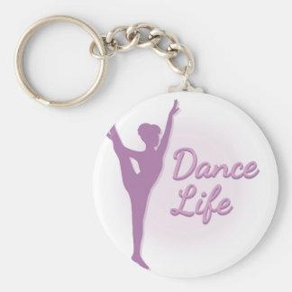 ダンスの生命バレリーナ-紫色- キーホルダー