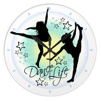 ダンスの生命踊りの時計 ラージ壁時計