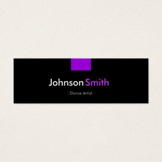 ダンスの芸術家-すみれ色の紫色のコンパクト スキニー名刺