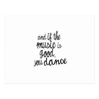 ダンスの郵便はがき ポストカード
