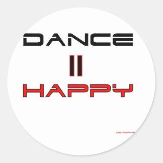 ダンスは幸せに匹敵します ラウンドシール