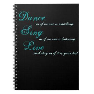 ダンスは生きている…歌います ノートブック