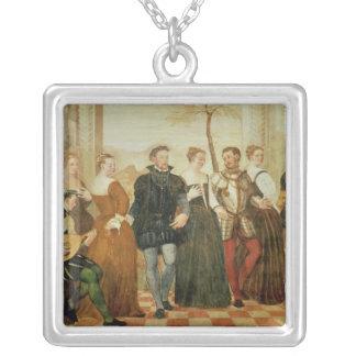 ダンスへの招待状、1570年 シルバープレートネックレス