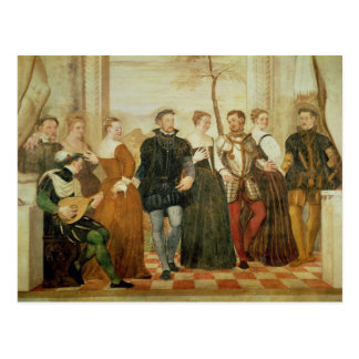 ダンスへの招待状、1570年 ポストカード