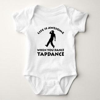 ダンスをタップダンスして下さい ベビーボディスーツ