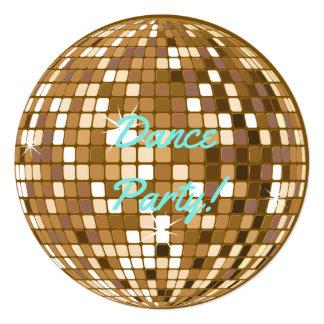 ダンスパーティーのディスコの球のパーティの招待状 カード