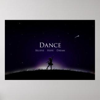 ダンスポスターダンスは希望に夢のバレリーナを信じます ポスター